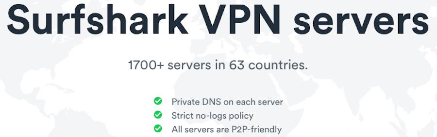 surfsharkvpn servers