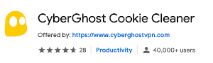 cyberghost cookie cleaner